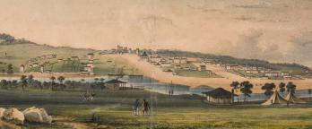 A drawing of melbourne in 1841