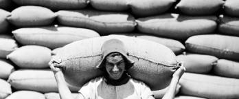 Black and white image of wheat carrier