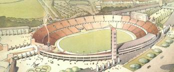 Colout drawing of the proposed stadium