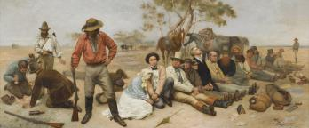 A painting of bushrangers