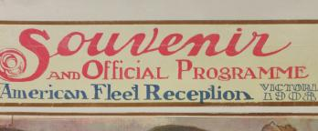 Photo of the front cover of a souvenir program