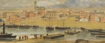 painting of Melbourne in 1854