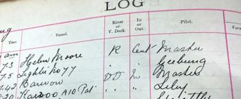Photo of a log book