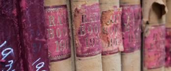 spines of historic volumes