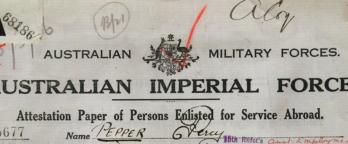 Percy pepper's service document