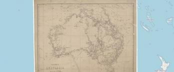 map of EXP2 AUSTRALIA. GENERAL MAP ROUTES- GREGORY HUNT LEFROY ROE EYRE STUART. DELISSER BURKE . KENNEDY OXLEY LANDSBOROUGH MITCHELL WALKER ET