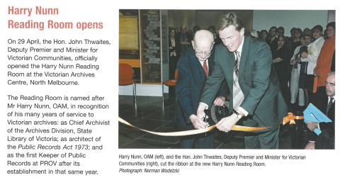 article Harry Nunn reading room opens