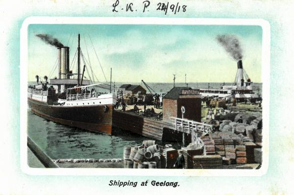 colour drawing of shipping yards
