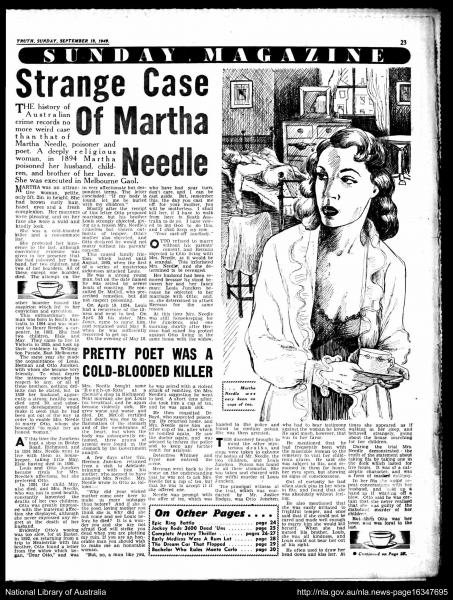 newspaper article about Martha Needle